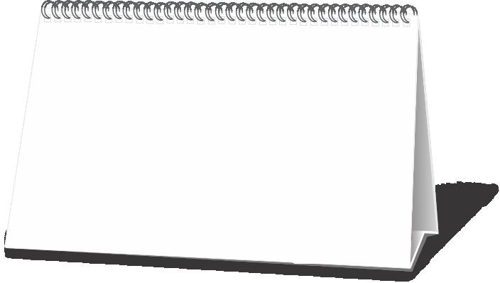 Calendário Base Branca