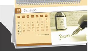 Calendário de Mesa  Dados Variaveis Itanhaém