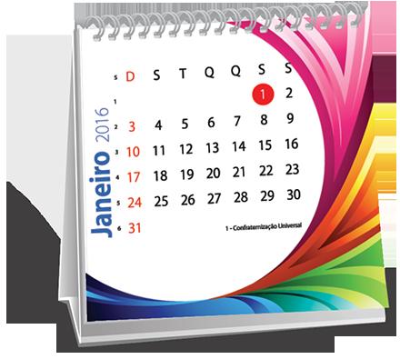 Calendario de Mesa 10x10 6 Folhas Brooklin Novo