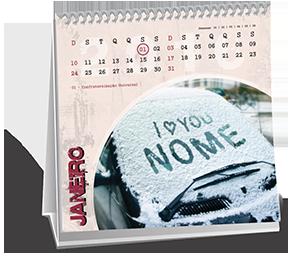 Calendario de Mesa 10x10 6 Folhas Chácara Itaim
