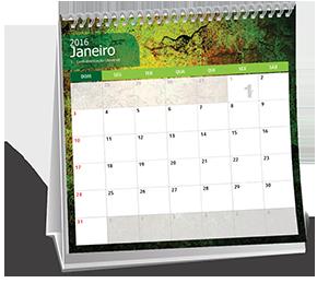 Calendario de Mesa 10x10 6 Folhas Jardim Edith