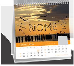 Calendario de Mesa 14-5x14-5 12 Folhas Cerqueira César