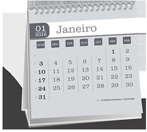 Calendario de Mesa 14-5x14-5 12 Folhas Vila Nova Tupi