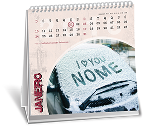 Calendario de Mesa 14-5x14-5 6 Folhas Chácara Itaim