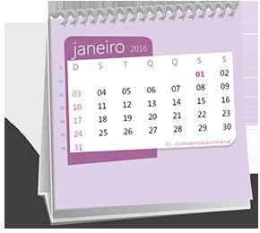 Calendário de Mesa 14-5x14-5 Base Branca Jardim Ícara