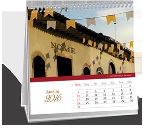 Calendario de Mesa 14-5x14-5 Dados Variáveis Jardim Nair