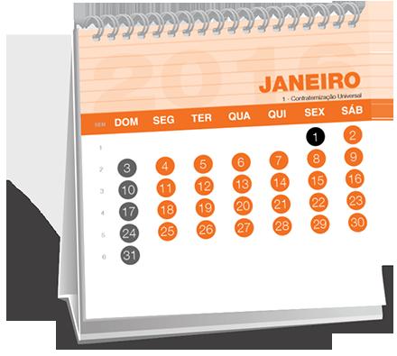 Calendario de Mesa 14-5x14-5 Dados Variáveis Vila Americana