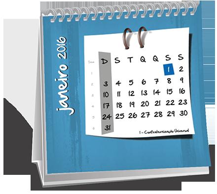 Calendario de Mesa 14-5x14-5 Dados Variáveis Vila Chavantes