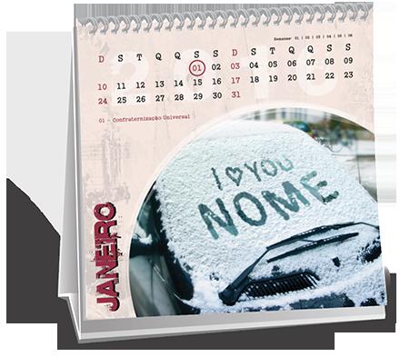 Calendario de Mesa 14-5x14-5 Dados Variáveis Vila Doutor Eiras