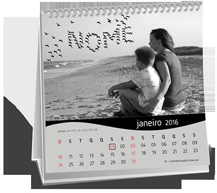 Calendario de Mesa 14-5x14-5 Dados Variáveis Vila Pedroso