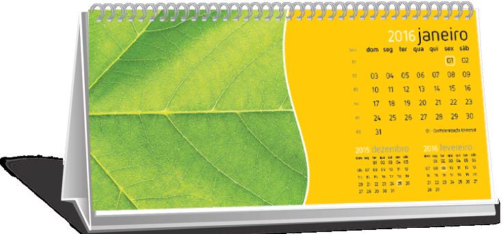 Calendário de Mesa 6 Folhas Alto de Pinheiros