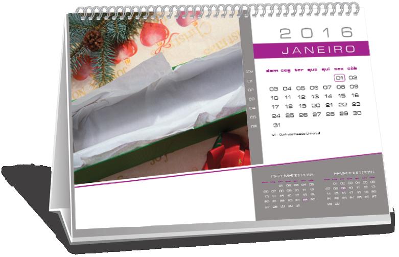Calendário de Mesa 6 Folhas Conjunto Habitacional Padre José de Anchieta