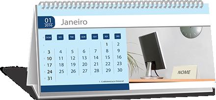Calendário de Mesa Com Base Personalizada Raposo Tavares