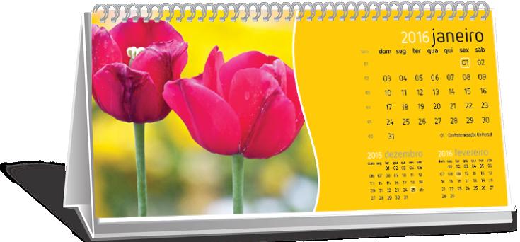 Calendário de Mesa Com Dados Variáveis Conjunto Butantã