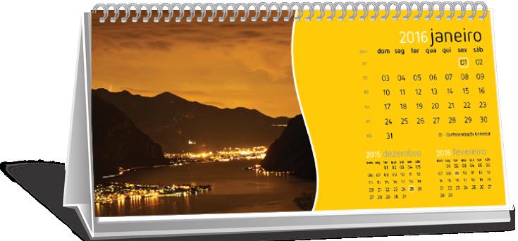 Calendário de Mesa Com Dados Variáveis Conjunto Residencial Novo Pacaembu