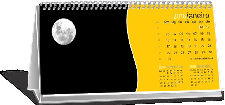 Calendário de Mesa Com Dados Variáveis Jardim Sítio do Morro