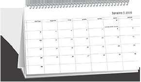 Calendário de Mesa Dados Variaveis Higienópolis
